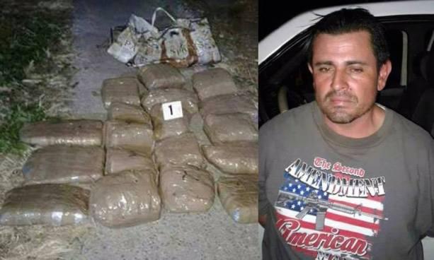Capturan en Santa Ana a sujeto con más de 20 paquetes de marihuana