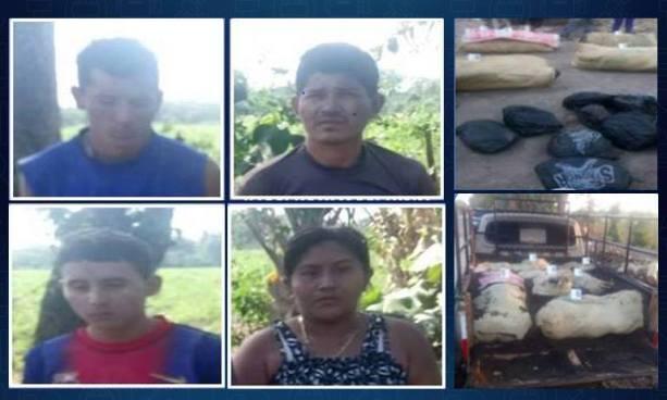 Capturan en Ahuachapán a sujetos que trasportaban más de 230 libras de marihuana en sacos cubiertos con arena