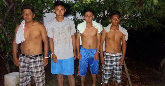 PNC captura en Ahuachapán a sujetos por el delito de agrupaciones ilícitas