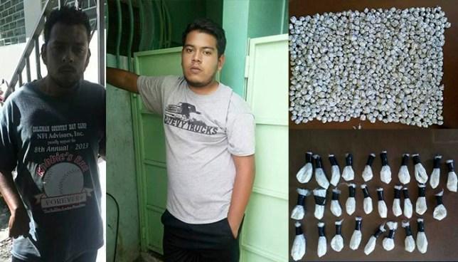 PNC arresta en Santa Tecla a dos sujetos con una fuerte cantidad de droga