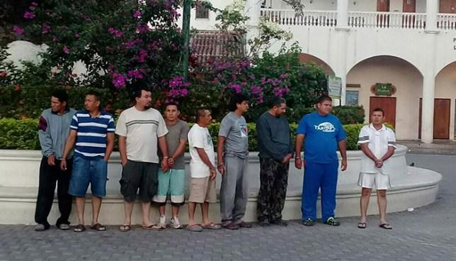 Fuerte operativo en Metapán deja 17 detenidos entre ellos dos policías