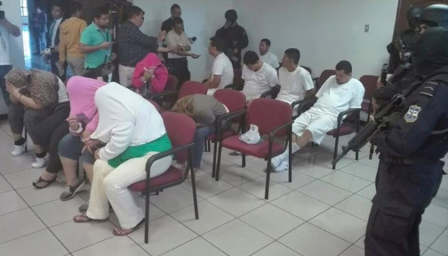 Envían a prisión a 13 sujetos capturados durante la Operación Cuscatlán