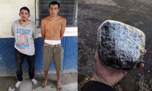 Policía sorprende a sujetos que trasportaban droga en Rosario, La Paz