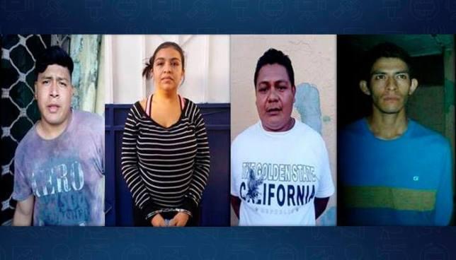 Capturan en San Salvador a cuatro sujetos que eran reclamados por la justicia
