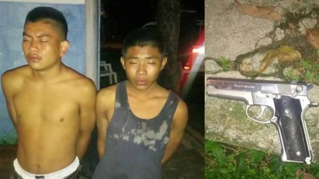 Capturan a dos jóvenes pandilleros por portación ilegal de arma de fuego