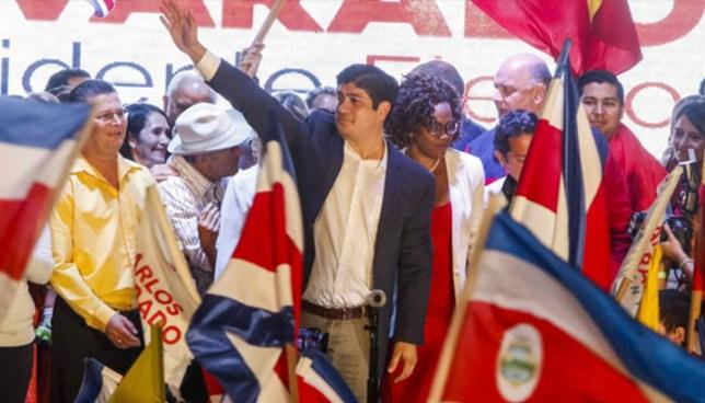 Carlos Alvarado se convierte en el nuevo presidente de Costa Rica