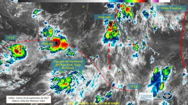 Continúa abundante nubosidad y probabilidad de lluvias para este martes