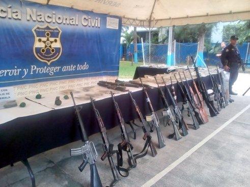 PNC incautó 1,715 armas a pandilleros