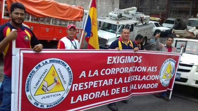 Empleados de AES paralizan labores en Usulután y Santa Ana
