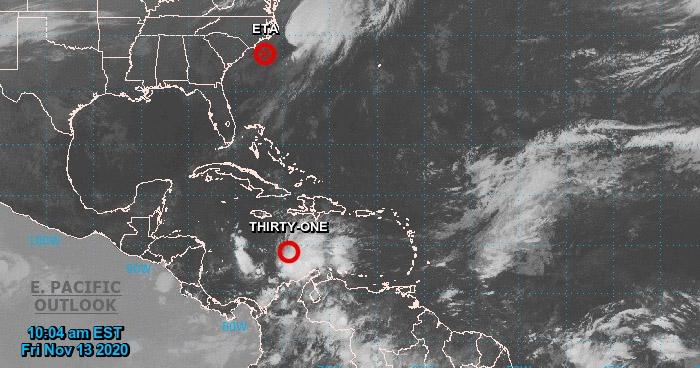 """""""Depresión tropical 31"""" podría impactar a Centroamérica como huracán"""