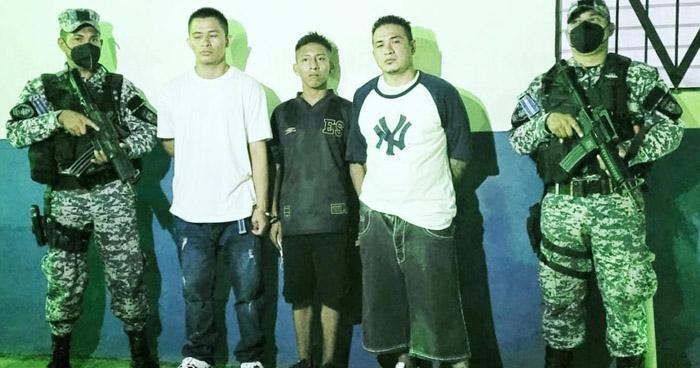 Capturan a tres pandilleros de la MS-13 que operaban en Soyapango