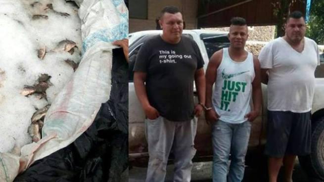 Capturan en Metapán a tres sujetos por el delito de contrabando de mercadería