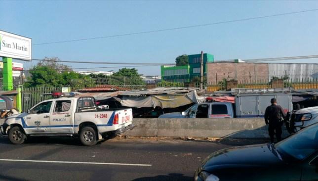 Asesinan a pareja de pandilleros sobre carretera Panamericana, frente al mercado de San Martín