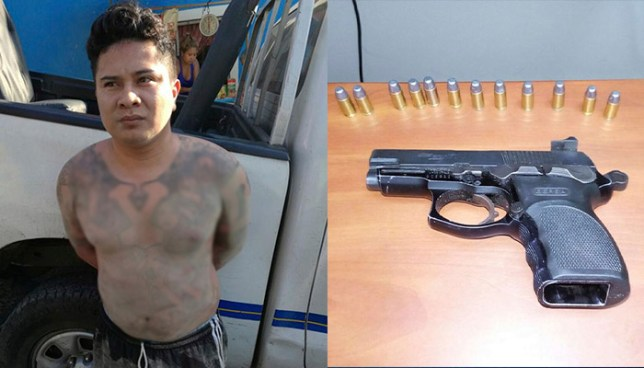 Capturan a pandillero que intentó darse a la fuga por los techos de unas viviendas en Huizúcar