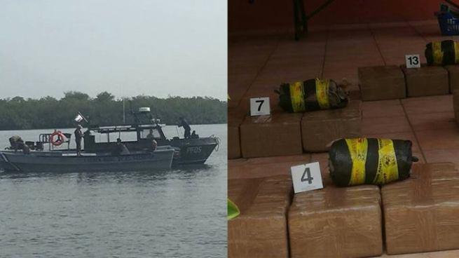 Fuerza Naval entrega a DAN, 420 paquetes con droga localizados en Acajutla