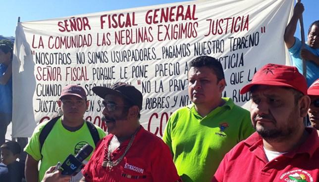 Habitantes de una comunidad en Panchimalco exigen a la fiscalía detenga proceso de desalojo