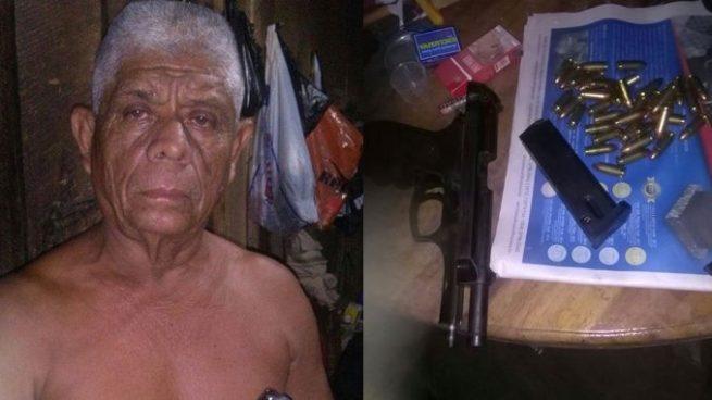 Hombre de más de 60 años detenido por portación ilegal de arma de fuego en Ahuachapán