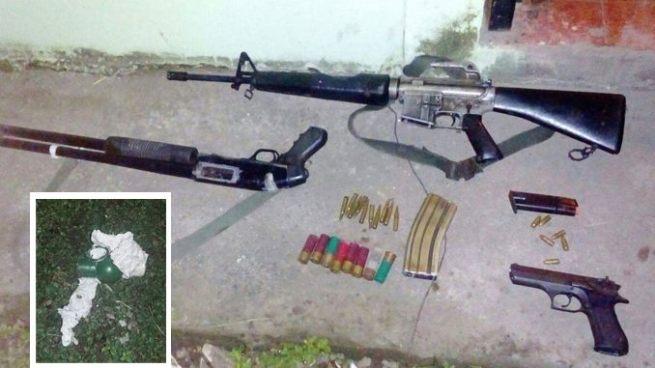 Capturan a delincuentes que tenían en su posesión armas de fuego y una granada en La Paz