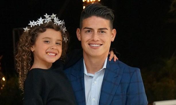 James Rodriguez derrite las redes sociales con esta tierna foto junto a su hija