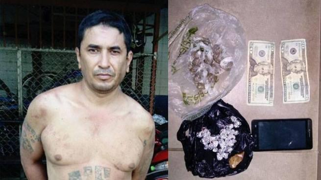 Capturan con droga y dinero a pandillero quien daba orden de asesinar a policías