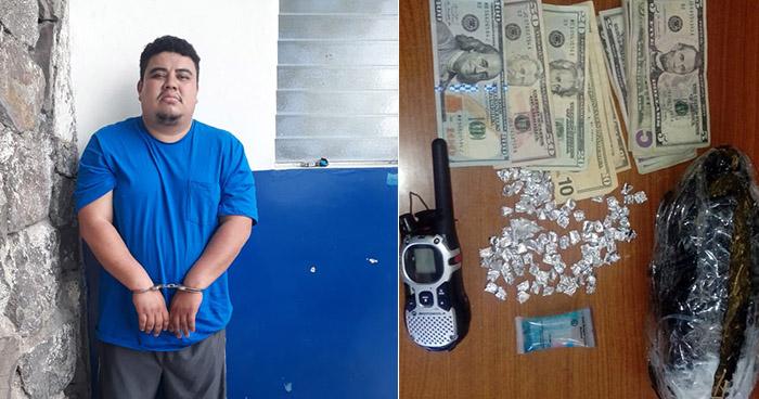 Capturan en San Salvador a distribuidor de droga que usaba un radio para coordinar entregas