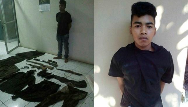 Capturan en San Miguel a pandillero que tenia en su poder uniformes policiales y militares