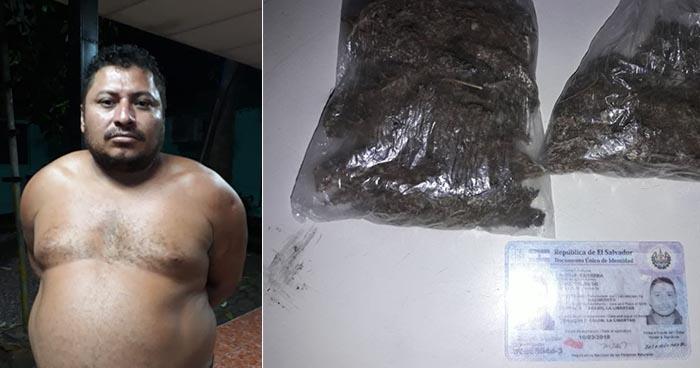 Pandillero es sorprendio con varias porciones de marihuana en Colón, La Libertad
