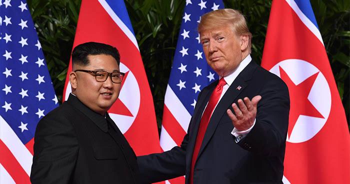 Presidente Donald Trump se reúne con el líder norcoreano Kim Jong Un