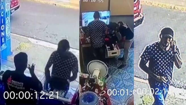 Cámaras captan como un hombre roba en una tienda de celulares en San Miguel