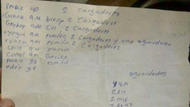 Encuentran listado de armas a pandillero capturado tras enfrentamiento en La Libertad