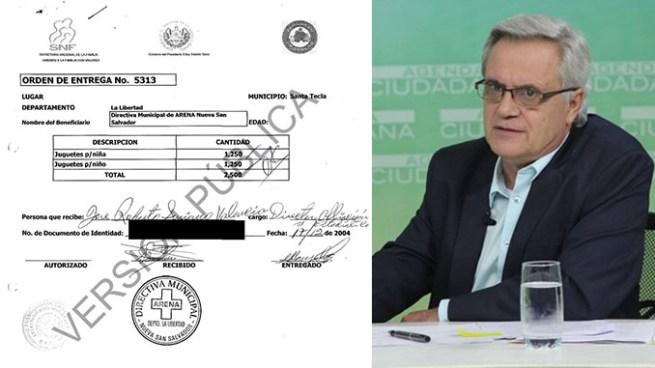 ARENA recibió donaciones de Secretaría Nacional de la Familia para actividades del partido