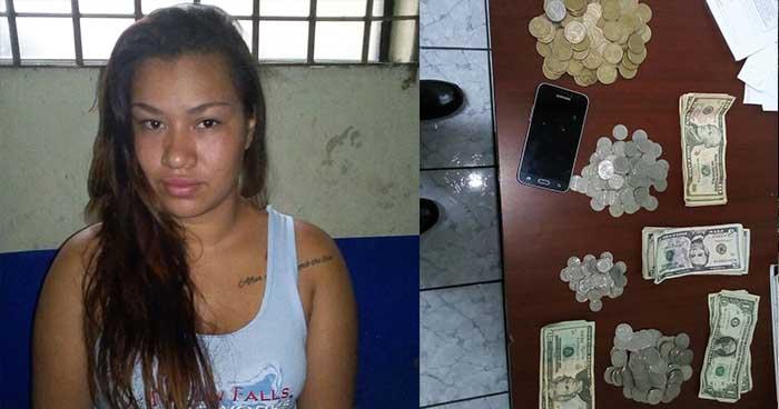 Capturan en San Salvador a una joven con dinero de dudosa procedencia