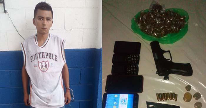 """PNC captura a pandillero alias """"Chipi"""" en Ciudad Futura, Cuscatancingo"""