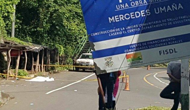 Hombre acribillado a balazos a la altura del desvío a Mercedes Umaña