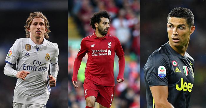 """Cristiano Ronaldo, Luka Modric y Mohamed Salah los finalistas del premio """"The Best"""""""