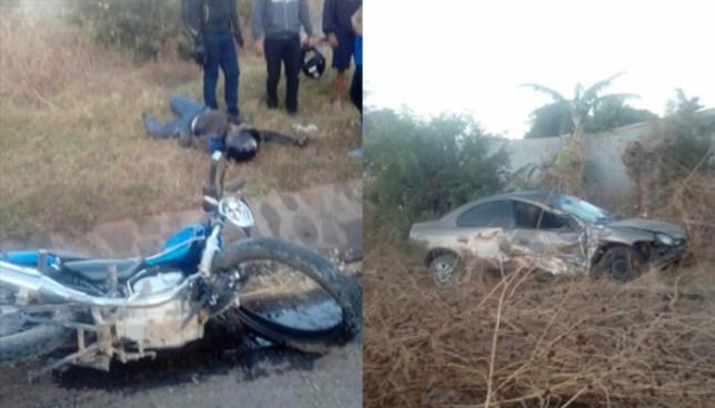 Motociclista pierde la vida tras ser impactado por un automovilista en Chalchuapa