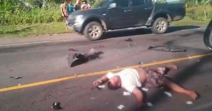 Motociclista muere tras ser embestido por un auto en calle antigua a Zacatecoluca