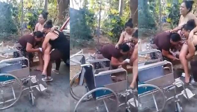 Autoridades investigan video donde una mujer da a luz frente a un hospital de Chalatenango
