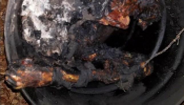 Hallan al interior de un barril el cuerpo calcinado de una mujer en Santa Ana