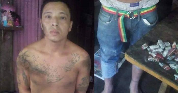 Pandillero es atrapado con varias porciones de droga en Izalco, Sonsonate