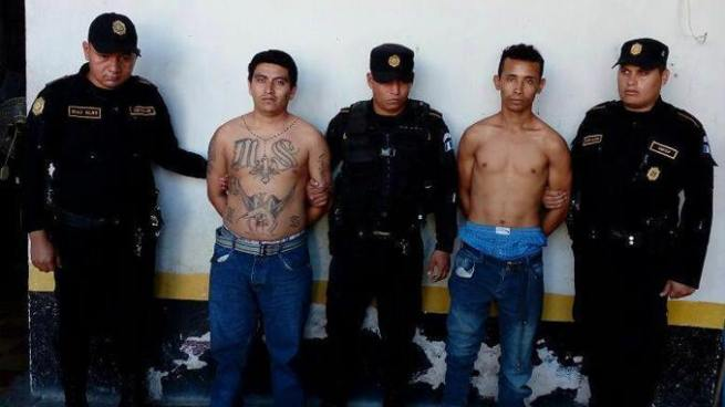 Capturan a 2 pandilleros salvadoreños en Guatemala, uno de ellos es buscado por la INTERPOL