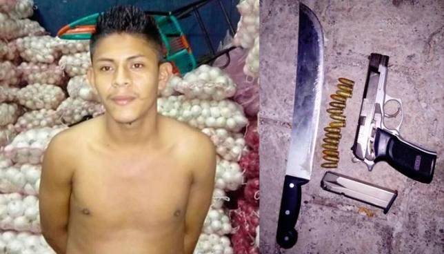 Capturan a pandillero que pretendía realizar un atentado en el mercado La Tiendona