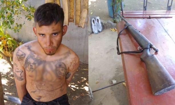 Capturan en Nahuizalco a pandillero que tenía en su poder un arma larga