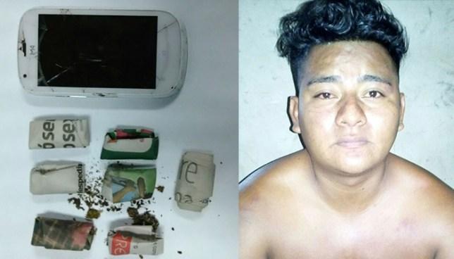 Policía sorprende a sujeto que portaba varias porciones de droga en San Vicente