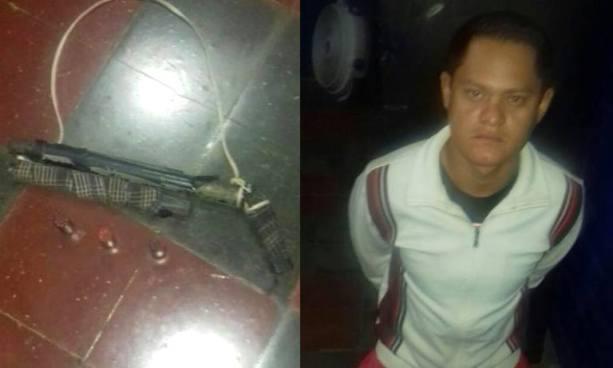 "Detienen en Ahuachapán a presunto pandillero que portaba un ""trabuco"""