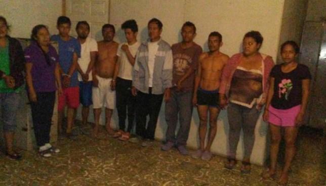 Policía captura a más de una docena de pandilleros en Olocuilta, La Paz