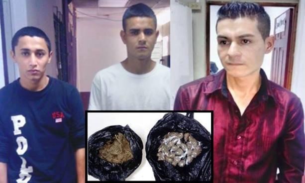 Detienen en San Vicente a pandilleros que portaban varias porciones de droga