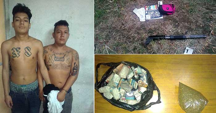 Capturan armados y con droga a tres pandilleros en Ciudad Delgado, San Salvador