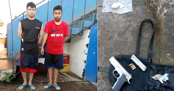 Capturan armados y con drogas a dos pandilleros en Zacatecoluca