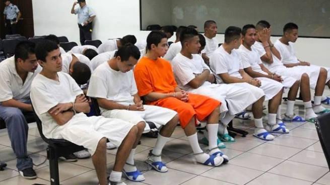 Pandilleros son condenados a cumplir penas en prisión de entre 4 a 75 años